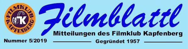 Header Filmblattl  Mitteilungen des Filmklub Kapfenberg Hier Header 5/2019